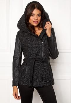 ONLY Lisford Boucle Wool Coat Black Bubbleroom.fi
