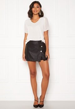 ONLY Liva Faux Leather Shorts Black Bubbleroom.fi