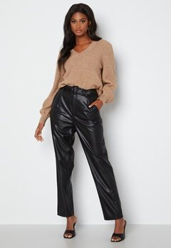 ONLY Lucy Faux Leather Pant Black bubbleroom.fi