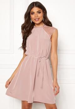 ONLY Lunu S/L Dress Adobe Rose Bubbleroom.fi