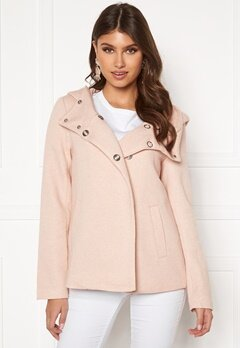 ONLY Maddie Light Hoooded Jacket Rose Smoke Bubbleroom.fi