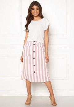 ONLY Madeline Piper Midi Skirt Rose Smoke/Stripes Bubbleroom.fi