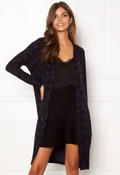 ONLY Mala L/S Leo Cardigan Night Sky/Black Leo Bubbleroom.fi