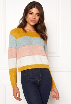 ONLY Malone Stripe Pullover Golden Yellow Bubbleroom.fi