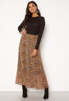 ONLY Mandy Maxi Skirt Black Multiflower Bubbleroom.fi