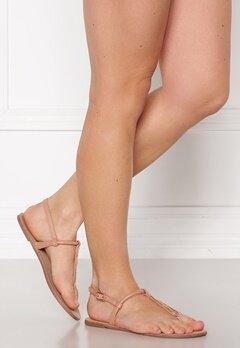 ONLY Margit PU Glitter Split Toe Sandal Nude Bubbleroom.fi