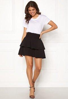 ONLY Mariana Myrina Layered Skirt Black Bubbleroom.fi