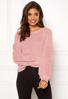 ONLY Mella L/S Pearl Pullover Misty Rose Bubbleroom.fi