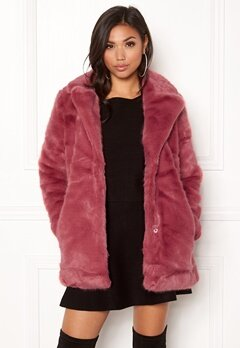 ONLY Milana Faux Fur Coat Baroque Rose Bubbleroom.fi
