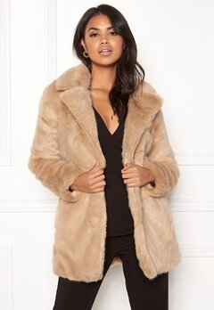 ONLY Milana Faux Fur Coat Pure Cashmere Bubbleroom.fi