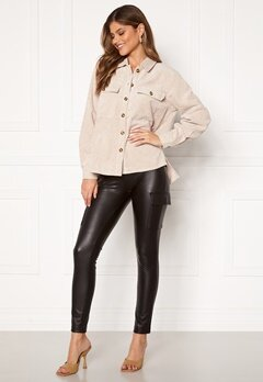 ONLY Miri Faux Leather Cargo Legging Black Bubbleroom.fi