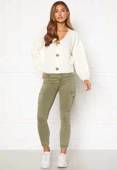ONLY Missouri Ankl Cargo Pant Oil Green Bubbleroom.fi