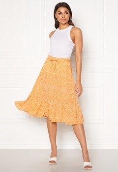 ONLY Nadja-Addiction Long AOP Skirt Golden Spice Bubbleroom.fi