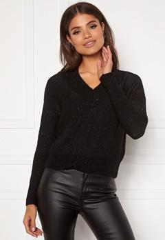 ONLY Naila L/S Glitter Pullover Black Bubbleroom.fi