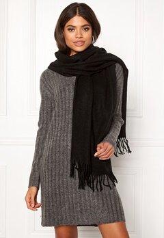 ONLY Nala Weaved Wool Scarf Black Bubbleroom.fi
