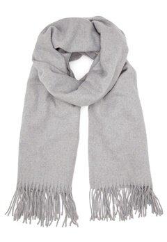 ONLY Nala Weaved Wool Scarf Light Grey Melange Bubbleroom.fi