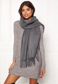 ONLY Nala Weaved Wool Scarf Medium Grey Melange Bubbleroom.fi