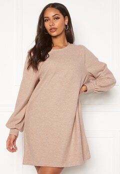 ONLY Nanna L/S Rib Dress Pumice Stone Bubbleroom.fi
