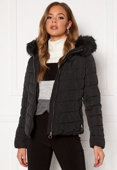 ONLY New Ellan Quilted Jacket Black Bubbleroom.fi