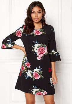ONLY New Kenni 3/4 Dress Black Bubbleroom.fi