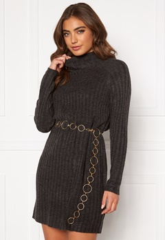 ONLY New Miramar L/S Dress Dark grey melange Bubbleroom.fi