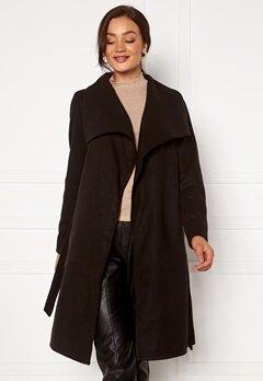ONLY New Phoebe Drapy Coat Black Bubbleroom.fi