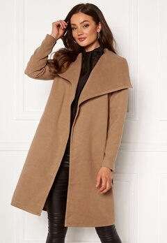 ONLY New Phoebe Drapy Coat Camel Bubbleroom.fi