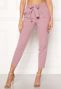 ONLY Nicole Paperbag Pants Misty Rose Bubbleroom.fi