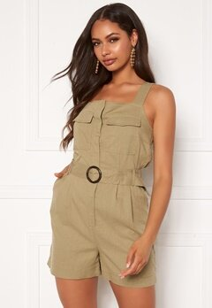 ONLY Noreen-Bibs Playsuit Martini Olive Bubbleroom.fi