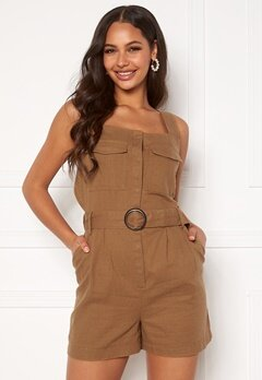 ONLY Noreen-Bibs Playsuit Toasted Coconut Bubbleroom.fi