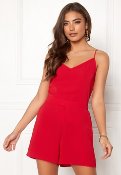 ONLY Nova Lux Malibu Playsuit Barbados Cherry Bubbleroom.fi