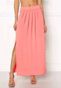 ONLY Nova Lux Maxi Skirt Solid Strawberry Ice Bubbleroom.fi