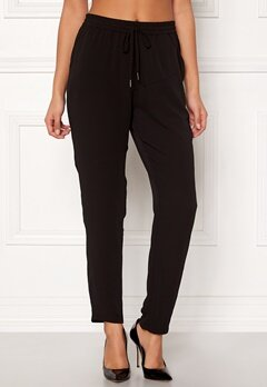 ONLY Nova Lux Pant Solid Black Bubbleroom.fi