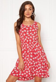 ONLY Nova Lux S/L Sara Dress Chinese Red Bubbleroom.fi