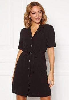 ONLY Nova Lux S/S Button Dress Black Bubbleroom.fi