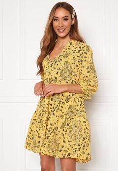 ONLY Nova Lux Thea Dress Misted Yellow AOP Bubbleroom.fi