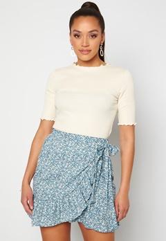 ONLY Olivia Wrap Skirt Dusk Blue/ Flower<br>  Bubbleroom.fi