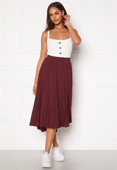 ONLY Paradise Pleated Skirt Fig Bubbleroom.fi