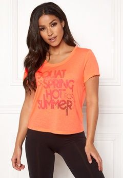 ONLY PLAY Laguna Short SS Tee Neon Orange Bubbleroom.fi