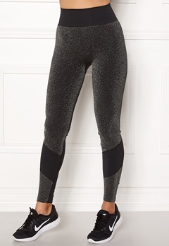 ONLY PLAY Sparkle Seamless Tights Black Bubbleroom.fi