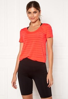 ONLY PLAY Sue V-Neck Training Tee Fiery Coral Bubbleroom.fi