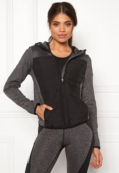 ONLY PLAY Vera Quilted Hood Jacket Dark Grey Melange Bubbleroom.fi