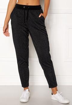 ONLY PLAY Zira Glitter Sweat Pants Black Bubbleroom.fi
