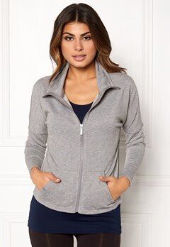ONLY PLAY Zira Glitter Zip Sweat Medium Grey silver Bubbleroom.fi