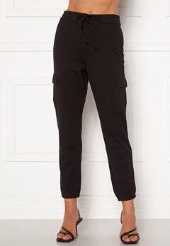 ONLY Poptrash Life Cargo Belt Pants Black bubbleroom.fi