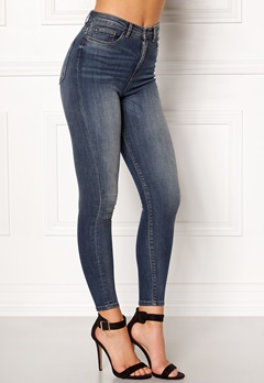 ONLY Posh HW Cropped Jeans Dark Blue Denim Bubbleroom.fi