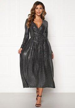 ONLY Rebecca L/S Glitter Dress Black Bubbleroom.fi
