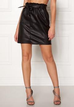 ONLY Rigie PU Paper Bag Skirt Black Bubbleroom.fi
