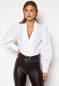 ONLY Runa L/S Shirt Wvn White Bubbleroom.fi