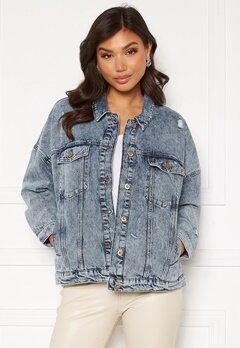 ONLY Safe Life LS Oversize Jacket Medium Blue Denim Bubbleroom.fi